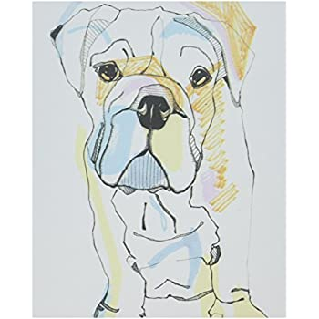 Deny Designs Casey Rogers Bulldog Color canvas Wall Art, 8 X 10
