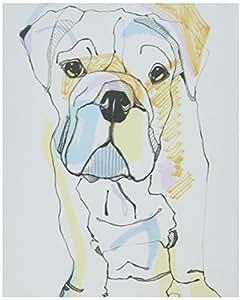 Deny Designs Casey Rogers Bulldog Color canvas Wall Art, 8 X 10