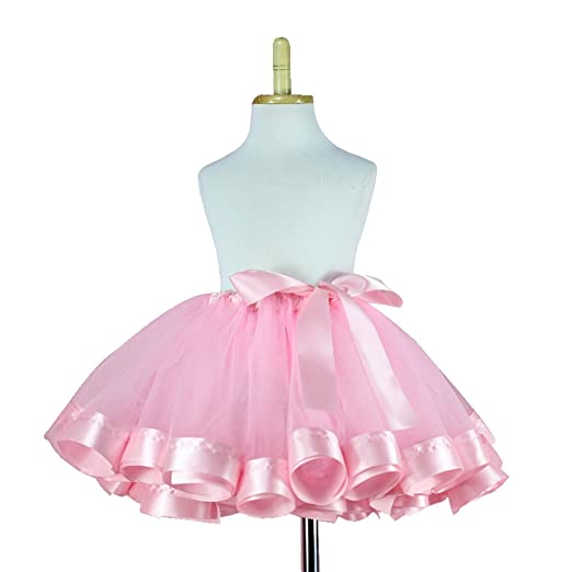 3ffadcae03 Amazon.com: TRADERPLUS Girls Tutu Skirt Fluffy Tulle Princess Ballet Dance  Pettiskirts 3-9T (Pink): Clothing