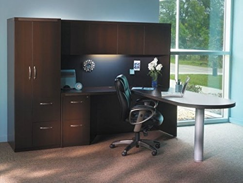 - Mayline L Shaped Desk W/Hutch 96