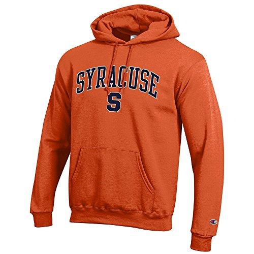 Elite Fan Shop Syracuse Orange Hooded Sweatshirt Varsity - L