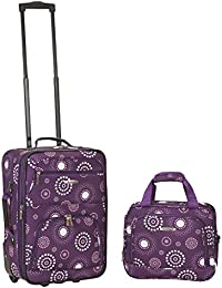 2 PC PURPLE PEARL LUGGAGE SET