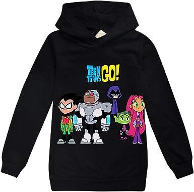 Unisex Teen Titans Go Pullover Los niños de Dibujos Animados Pullover Impresión Sudaderas Niños Niñas Thin Sudaderas con Capucha de Manga Larga Camiseta Teen Titans Go Sudaderas: Amazon.es: Ropa y accesorios