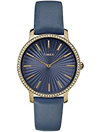 Women's TW2R51000 Metropolitan Starlight 34mm Navy/Gold-Tone Leather Strap Watch