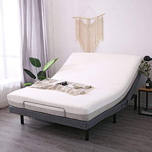 LEISUIT Adjustable Bed Frame with Back & Foot Massage, Queen