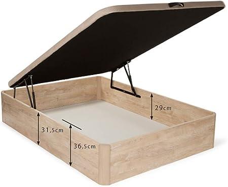 Dormidán - Pack de canapé abatible de Gran Capacidad + colchón viscoelástico + Almohada visco Copos de Regalo (90_x_190_cm, Blanco)