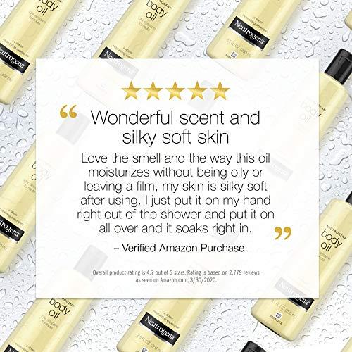 Neutrogena Lightweight Body Oil for Dry Skin, Sheer Body Moisturizer in Light Sesame Formula, 16 fl. oz 2
