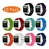 KingAcc Fitbit Blaze Bands, Soft Accessory Replacement Band for Fitbit Blaze, With Metal Buckle Fitness Wristband Strap Women Men Large Small Black, White, Gray, Blue, Purple, Rose, Red, Green