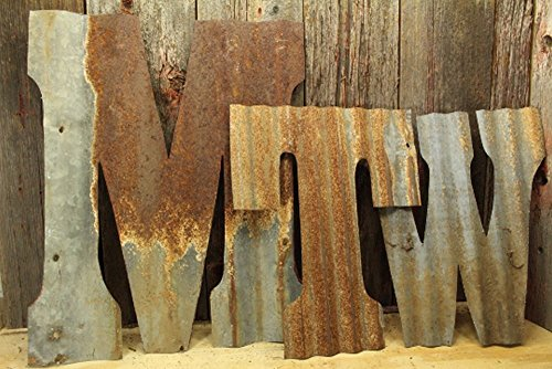 Rusty Barn Tin Letter Custom rustic metal wall decor 8