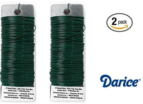 set-of-2-darice-paddle-wire-22-gauge-green