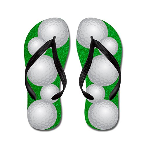 CafePress Golf Balls - Flip Flops, Funny Thong Sandals, Beach Sandals Black