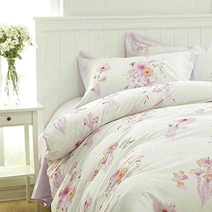 Francés idílico cuatro piezas de ropa de cama de algodón,Violeta,1,5