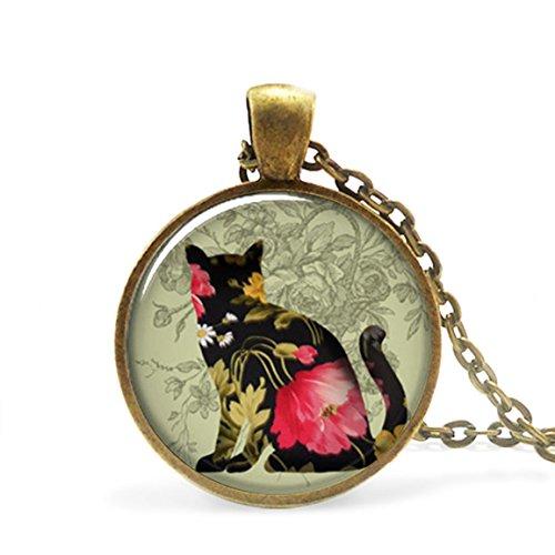 Black Calico Cat Pendant Charm, Cat Necklace Resin Pendant, Cat Lover Gift, Cat Jewelry -