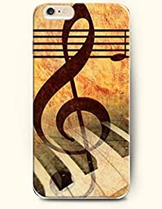 OOFIT Phone Case for iPhone 6 Plus 5.5 Inches with the Design of Music Note and Piano Keyboard