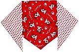 Valentine Dog Bandana I Woof You (L) Ties on 14″ – 22″ neck, My Pet Supplies