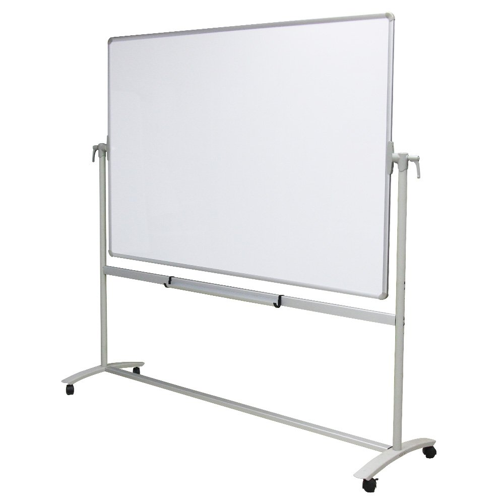 VIZ-PRO Double-Sided Non-Magnetic Office Whiteboard/Mobile Easel, 48 x 36 Inches, Steel Stand Zhengzhou AUCS Co. Ltd.