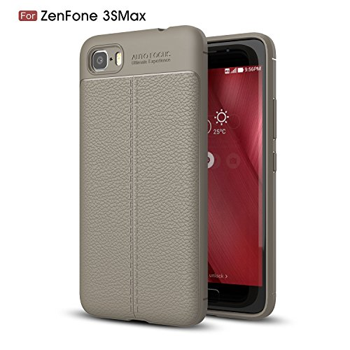 TPU/PC Shockproof Cover Case For Zenfone Max (Grey) - 9