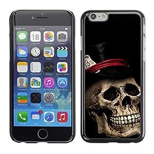 PC/Aluminum Funda Carcasa protectora para Apple Iphone 6 Plus 5.5 Top Hat Poker Cards Halloween Metal Music / JUSTGO PHONE PROTECTOR