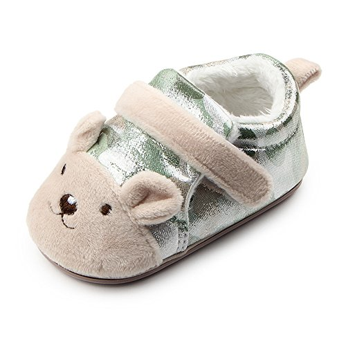 Boys Puppy Bootie (Lidiano Baby Camouflage Non Slip Rubber Soled Warm Fleece Plush Ankle Boots Booties Bootie (5 M US Toddler, Grass Green Puppy))