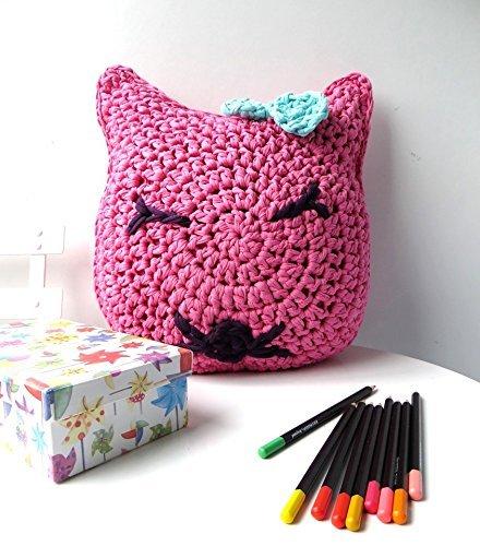 Cojín infantil cara de gatito: Amazon.es: Handmade