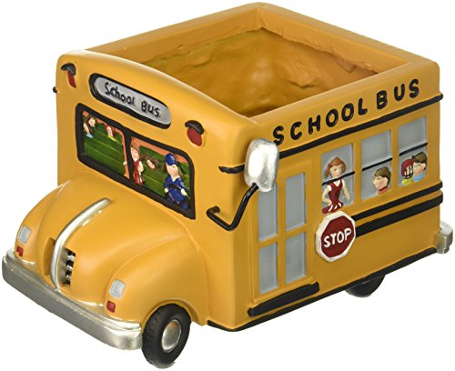 Adorable School Bus Planter Great Gift For Teachers, School Bus Drivers,Home Decor (Driver Bus Picture)