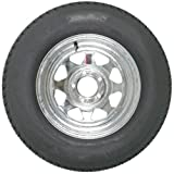 "Mounted Radial Trailer Tire & Rim ST205/75R14 14"" Load C ..."