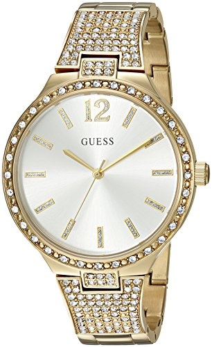 GUESS U0900L2 Gold Tone Crystal Accented Stainless