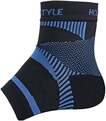 Holstyle Far Infrared Rays Ankle Compression Sleeve Socks for Plantar Fasciitis Support Brace for