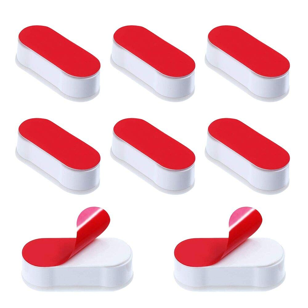 Toilet Seat Buffers 8 Pack Seat Bumpers Universal Stoppers for WC Cover Adhesive White KnR Harmony