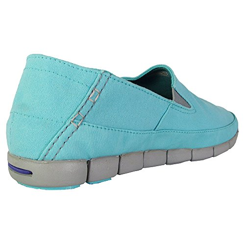 Crocs Damen Stretch Sohle Loafer Pool / Hellgrau