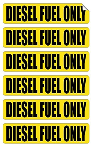 6 Pc Astonishing Unique Diesel Fuel Only Window Sticker Sign Laptop Luggage Wall Graphics Oil Door Windows Markers Decor Vinyl Art Stickers Patches Size 3/4