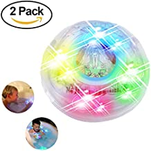 XYKTGH Bath Toys,Bathroom LED Light Toys in the Tub,Waterproof Colorful LED Bath Ball Toys,Bathroom Decorative for Party,Living Room, Bathroom,Bathtub,Swimming Pool,Bar (2 pack)