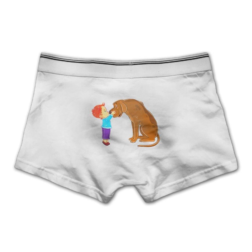 Pmftryuer Cute Puppy Mens Underwear Boxer Briefs Underpants