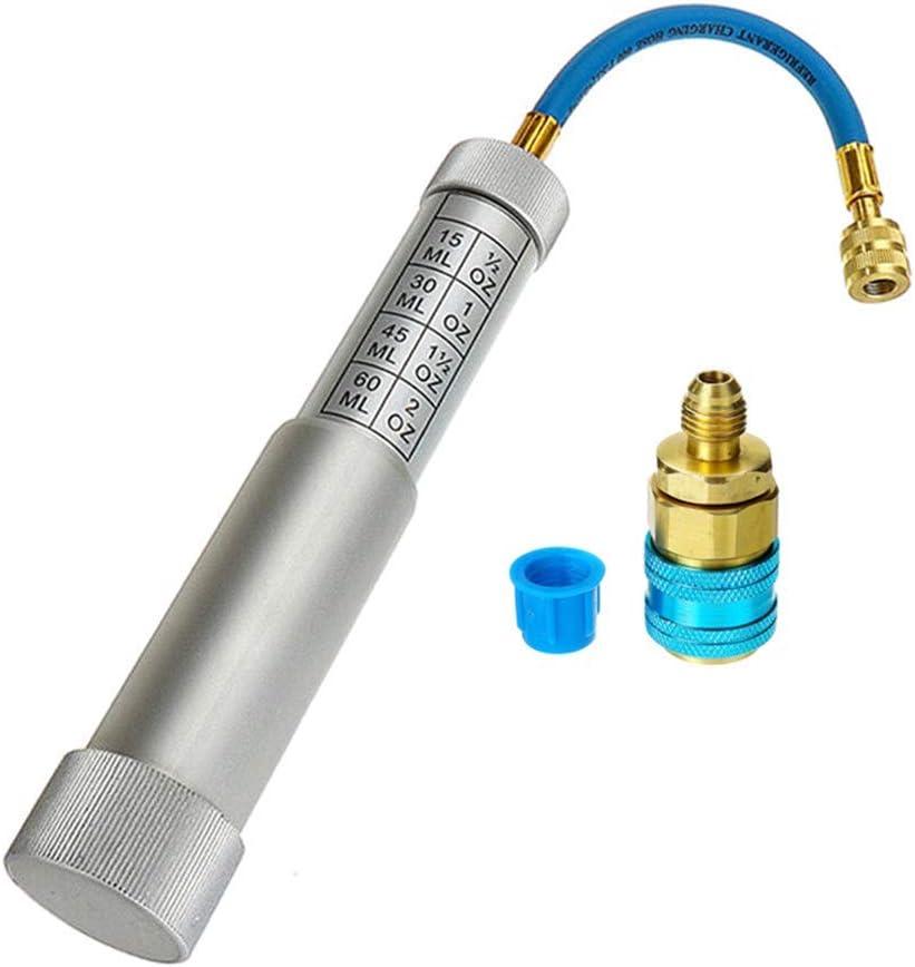 Elitemill a//C Femminile Olio Tingere Iniettore Adattatore Ecc. Refrigerante Sistema di Raffreddamento Mano Iniezione Strumento per Casa Ufficio AC e Auto AC Systems