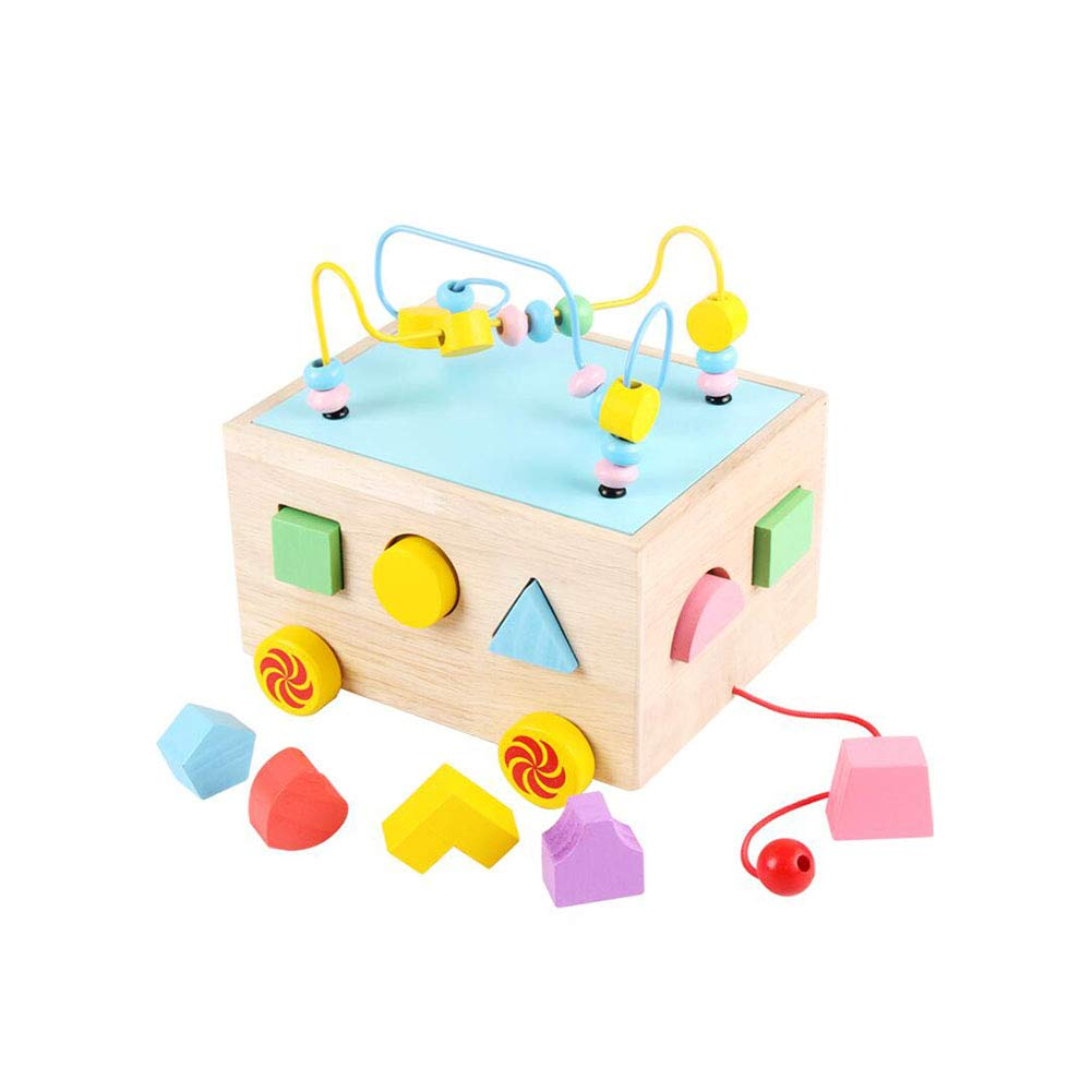 Dall Beads Maze Toy Wooden Activity Centre Cube Toys Shape Sorter Early Education Toy Wooden Toys