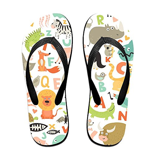 Footwear Summer Alphabet Slipper For Kids Black Beach Slim Flip Children Outdoor Sandal Men Women Flop Thong Casual BHxWn5P