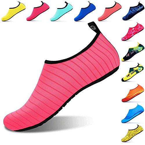 Giotto SportsWaterShoesSwimYogaBeachAquaSocksForWomenMen, Pink, 38-39