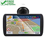 Car GPS, 9 inch Portable Navigation System for Cars, Lifetime Map Updates, Real Voice Turn-to-Turn Alert Vehicle GPS Sat-Nav