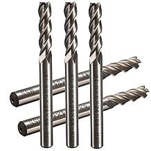 CoCocina 5pcs 6mm Shank Aluminum Hard HSS Cutter Blade 6x6x24x68mm Lengthened End Mill Router Bit