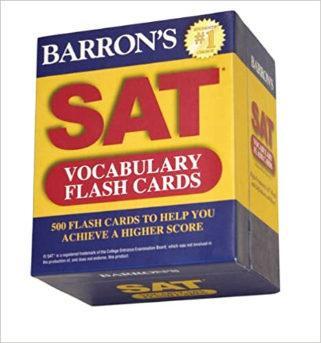 Kết quả hình ảnh cho Barron's SAT Vocabulary Flash Cards (2nd Edition)