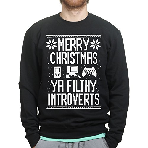 Merry Christmas Ya Filthy Introverts Gamer Geek Sweater