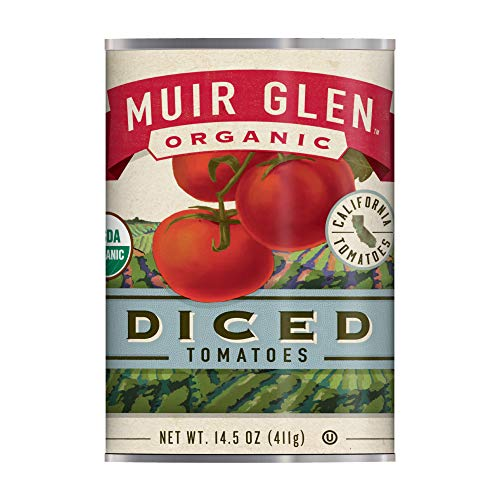Muir Glen Canned Tomatoes, Organic Diced Tomatoes, No Sugar Added, 14.5 Ounce Can (Pack of 12) (Organic Canned Tomatoes)