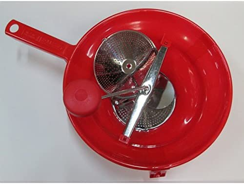 MOULIN LEGUMES PUREE PLASTIQUE rouge GRAND MODELE30 CM CODE 25360650