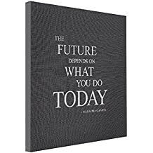 VetiVer Online Canvas The Future Motivational Quote Wall Art Canvas