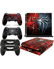 GNG PS4 Console Spider Skin Decal Vinal Sticker + 2 Controller Skins Set