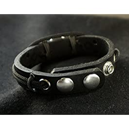 Lost Tribe Designs Mens Christian Bracelet with Cross, Religious Leather Wristband Gift