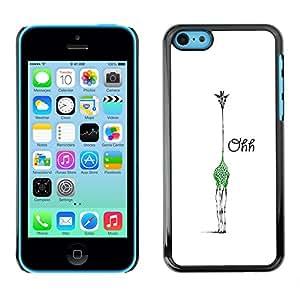 X-ray Impreso colorido protector duro espalda Funda piel de Shell para Apple iPhone 5C - Ohh Tired Giraffe Minimalist White Sleep