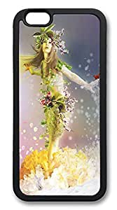 iPhone 6 Cases, Spring Goddess Durable Soft Slim TPU Case Cover for iPhone 6 4.7 inch Screen (Does NOT fit iPhone 5 5S 5C 4 4s or iPhone 6 Plus 5.5 inch screen) - TPU Black