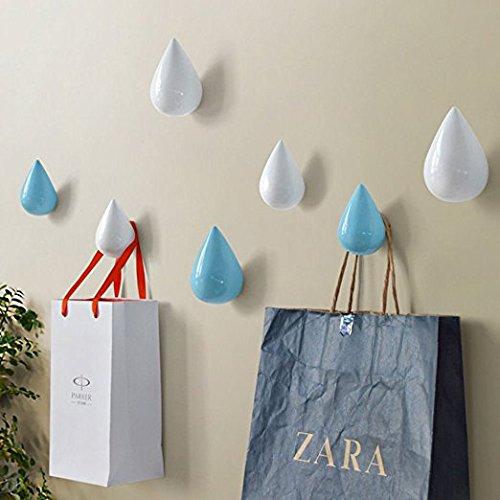Vivona HN-48 Brief Water Drop Shaped Hook Wooden Decorative Wall Mounted Hanger Bedroom Bathroom Living Room Coat Hooks Hat Hangers Artistic Clothes Hooks - (Color: Pink, Size: L) by Vivona (Image #4)