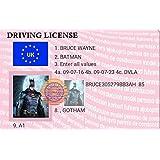 Novelty Batman Driving License - Keyring